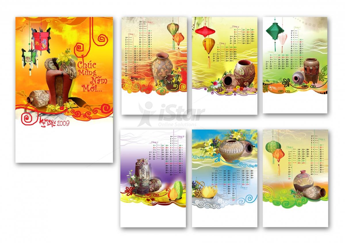 Các mẫu thiết kế lịch và in lịch đẹp,  ấn tượng