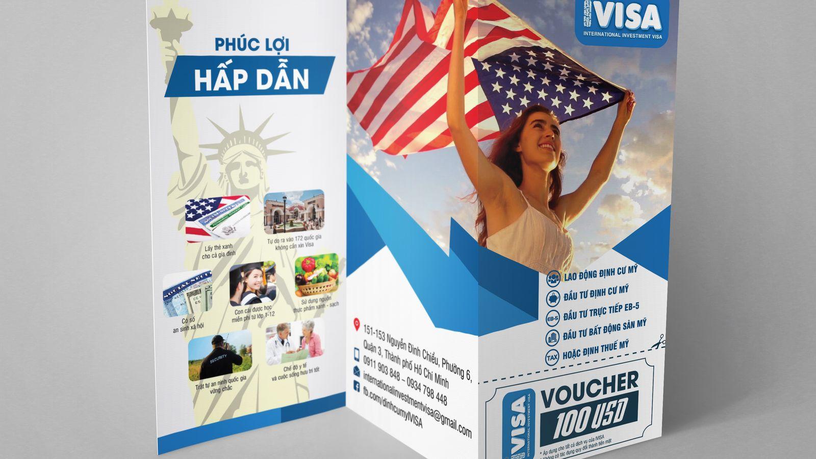 Thiết kế brochure công ty IVISA