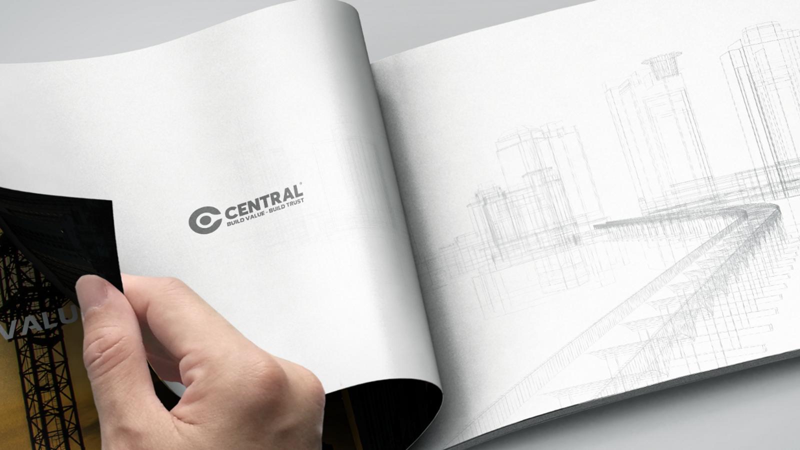 Thiết kế hồ sơ năng lực công ty xây dựng Central Cons