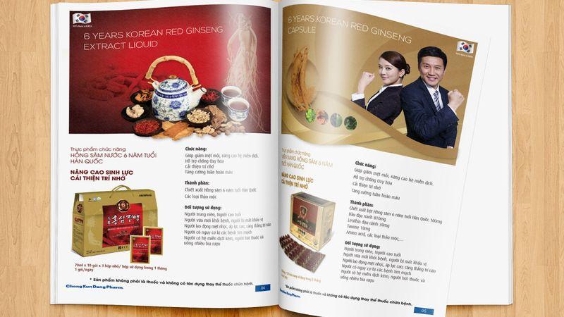 Thiết kế catalogue công ty CKD Pharm